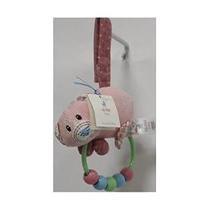 Gund Baby Hulahoop Pink Cat Beaded Rattle