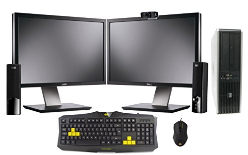 "Professionally Refurbished Gaming PC with Dual 19"" Monitors 2000GB Storage 8GB DDR3 RAM Dual Core Intel Processor Dedicated Nvidia GT730 Graphics Card HDMI Genuine Windows 10 Elite Keyboard Mouse Speakers Webcam"