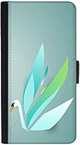 Snoogg Colorful Swan Designer Protective Phone Flip Back Case Cover For Xiaomi Redmi Note 3