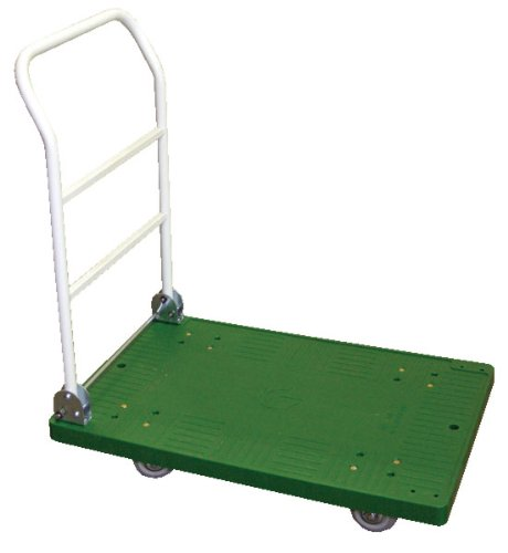 Vestil FPT-1830 Plastic Platform Truck with Fold Down Handle, 250 lbs Capacity, 27-3/4