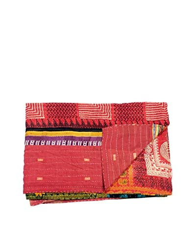 Mélange Home One-of-a-Kind Kantha Throw from Vintage Saris, Multi As You See