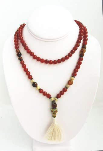ganesh-mala-108-beads-carnelian-spider-agate-bodhi-seeds-lotus-seeds-faceted-agate-by-prajna-paramit