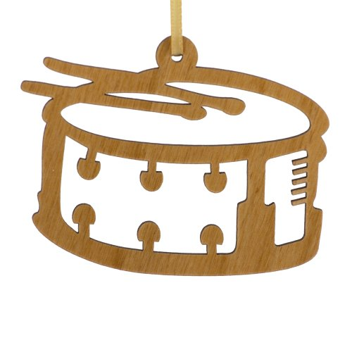 """Advent Ornaments """"Snare Drum"""", Laser Cut Wood Christmas Tree Ornament"""