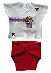 USA Teddy Diaper Set (Micro Preemie 0-3 Pounds)