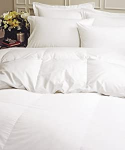 Supremium Baffle Box Medium Weight Goose Down Comforter White Queen