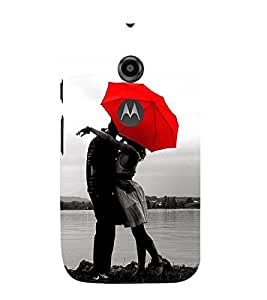 99Sublimation Kissing Couple 3D Hard Polycarbonate Back Case Cover for Motorola Moto E2 :: E Dual SIM 2nd gen :: 3G XT1506 :: 4G XT1521