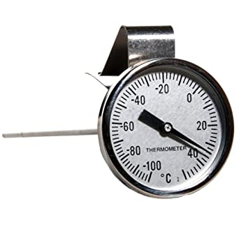H-B Instrument DURAC Traceable Bi-Metallic 44mm Dial Thermometer with Built-In Adjustment Tool On Beaker Clip