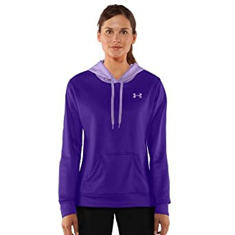 Women's Armour® Fleece Divide Hoody Tops by Under Armour Extra Small Pluto