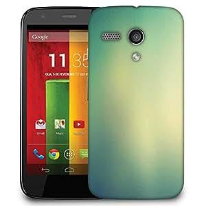 Snoogg Lite Green Background Design Designer Protective Phone Back Case Cover For Motorola G / Moto G