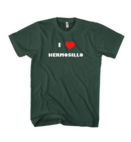 I Love Hermosillo Mexico City Country T- Shirt Tee Shirt Top Green L