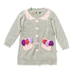 Girls Intarsia Sweater Dress - size 18M
