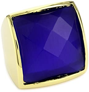 Beyond Rings Blue Norwalk Estate Ring with Internal Adjustable Band