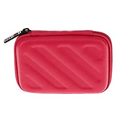 Magideal 2.5inch External USB Hard Drive Disk HDD Carry Case Cover Pouch Bag -Red