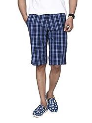 Hammock Men's Large Checked Bermuda Shorts - Blue (36)