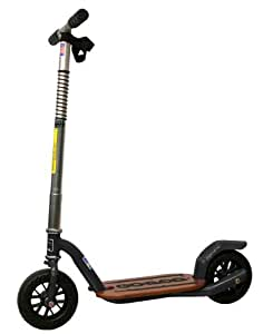 GoPed Grow Ped Push Scooter (Flat Black, Large)