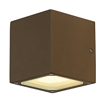 SLV Lighting 3232535U Sitra Cube Outdoor Wall Lamp, Anthracite - Wall