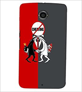 PrintDhaba Funny Image D-4187 Back Case Cover for MOTOROLA GOOGLE NEXUS 6 (Multi-Coloured)