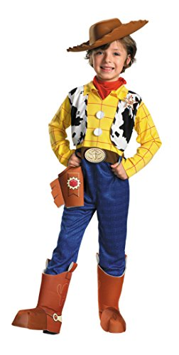 Boys Toy Story Woody Deluxe Kids Child Fancy Dress Party Halloween Costume