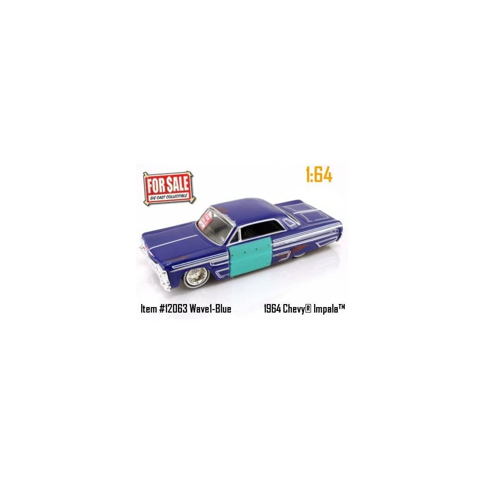 Jada Dub City For Sale Blue 1964 Chevy Impala 164 Scale Die Cast Car