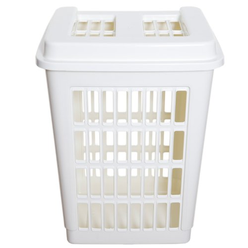 Large Plastic Laundry Washing Basket Hip Clothes Storage
