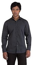 BearBerry Long Sleeve Casual Black Shirt (Medium)