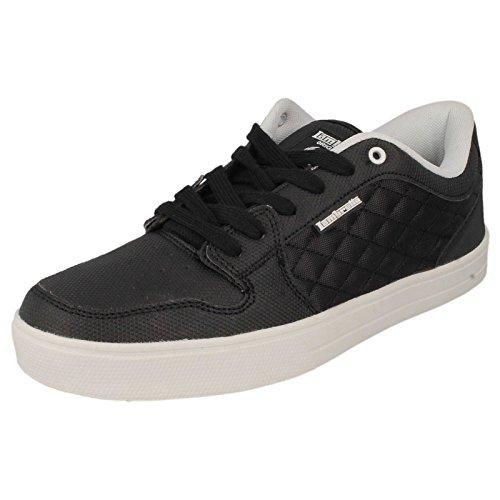 Da uomo Lambretta Skater stile scarpe Casual rullo, Nero