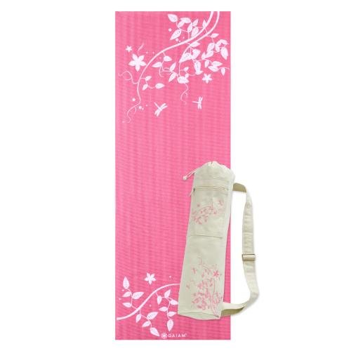 Yogaaddict Yoga Mat Towel And Hand Towel Combo Set: @$ Lowest Price Gaiam Printed Yoga Mat And Mat Bag Set