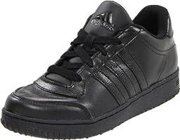 adidas Supercup Low Basketball Shoe (Little Kid/Big Kid),Black/Black/Black,6.5 M US Big Kid