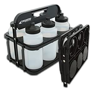 Champro Plastic Water Bottle Carrier Set (Clear Black) by Champro