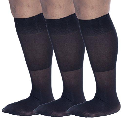 Zaftig Womens Plus Size Opaque Nylon Trouser Socks ...