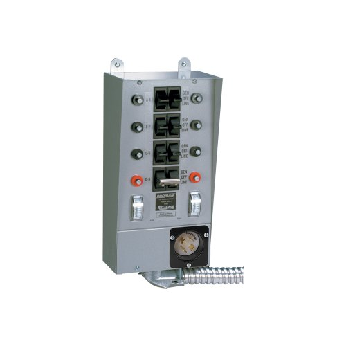 Reliance Controls 30508B Pro/Tran 8-Circuit 30 Amp Generator Transfer Switch For Up To 7,500 Watt Generators