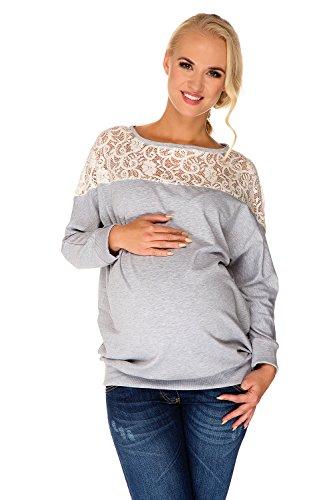 my-tummy-umstands-pullover-sweatshirt-freizeit-ashley-ecru-spitze-grau-meliert-m-medium