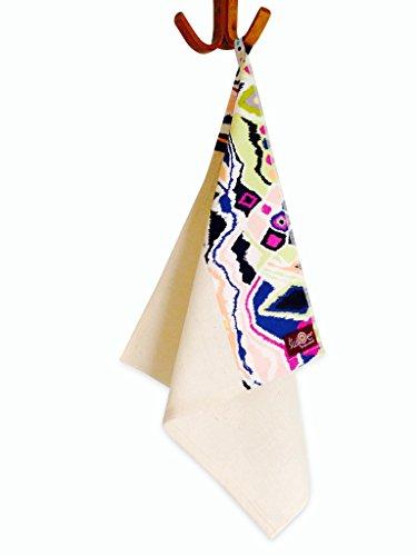 Le Swipe Organic Cotton + Modern Print Napkins In Juniper Ikat - 4-Pack - Super Soft + Absorbent!