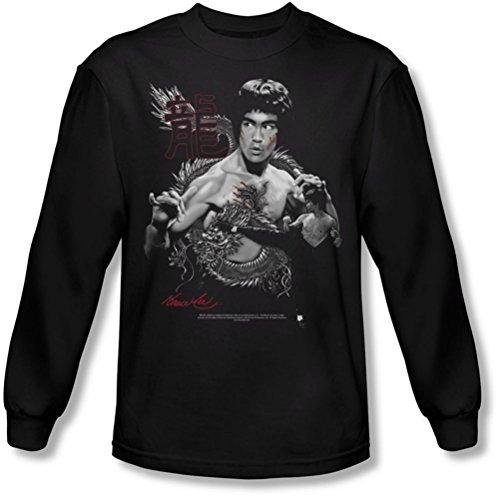 Bruce Lee-Dragon, la maglietta a maniche lunghe, colore: nero