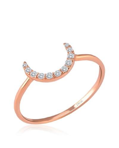 Divas Diamond Anillo Gemstone Half Luna Oro