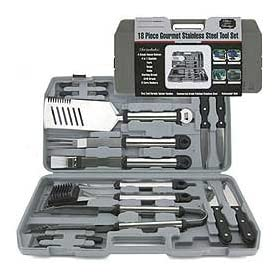 Mr Bar B Q 02099X 18-Piece Stainless Steel Tool Set