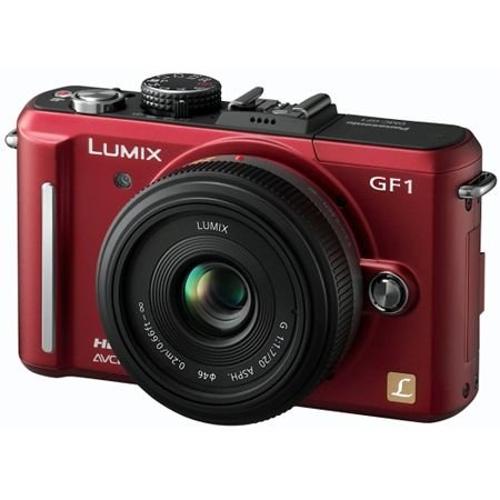 Panasonic DMC-GF1C 12MP Digital SLR camera - RED :  digital cameras digital cameras digital panasonic cameras