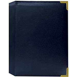 Pioneer Photo Albums Oxford Brass Corner Series 5X7 24 Photo Album - Navy Blue