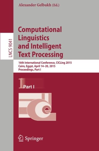 Computational Linguistics and Intelligent Text Processing ...