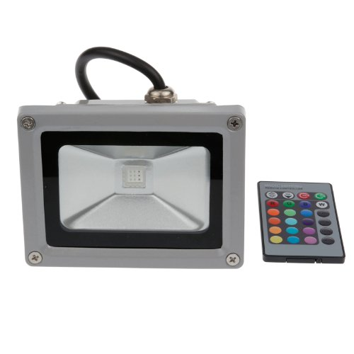 Sunsbell 10W Led Rgb Flood Light Waterproof Outdoor Widely Used For Landscape Garden Stage Lighting Floodlight +Ir Remove Control+Dc