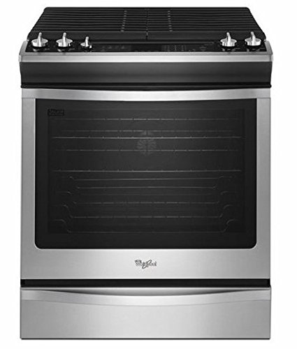 "Whirlpool Weg760H0Ds 30"" Slide-In Gas Range With 2 Speedheat Sealed Burners, 5.8 Cu. Ft. Timesavor Plus True Convection Cooking, Rapid Preheat Feature And Full-Width Continuous Cast-Iron Grates front-37355"