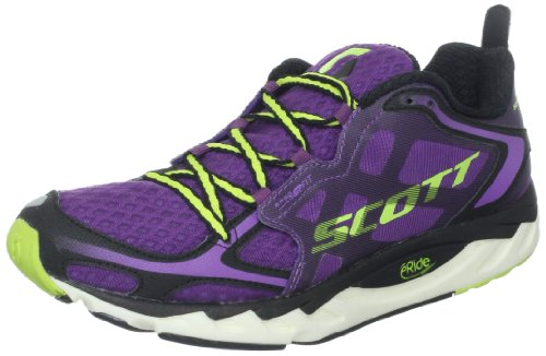 Scott Running Women's Eride AF Support Running Shoe,Purple/Green,10 M US