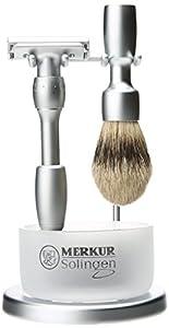 Merkur-Razor Chrome Plated 4 Piece Shaving Set