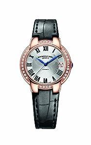 Raymond Weil Jasmine Automatic Silver Dial, Aligator Strap Ladies Watch 2935-PCS-01659