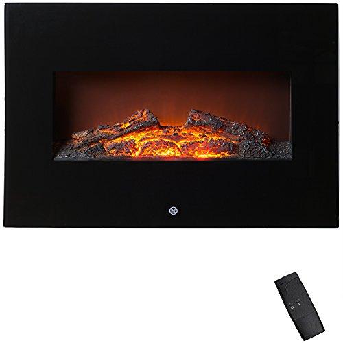 Elektrischer-Wandkamin-mit-Fernbedienung-1800W-Wandmontage-2-Heizstufen-berhitzungsschutz-LED-Flammeneffekt-sicher-und-sauber