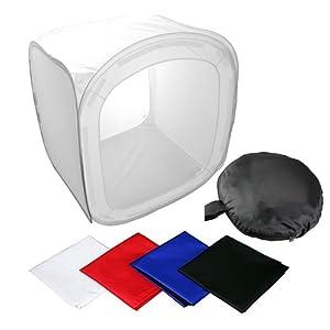 Mini Studio photo -Boite à lumière - Tente cube 80cm*80cm*80cm +4* Toiles de fond en quatre couleurs