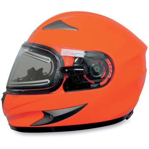 Afx Fx-90Se Snow Helmet With Electric Shield Safety Orange Xl/X-Large