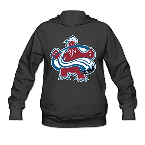 PHOEB Womens Sportswear Drawstring Hoodie Sweatshirt,Colorado Avalanche Black Small (Jimmy Johnson License Plate Frame compare prices)