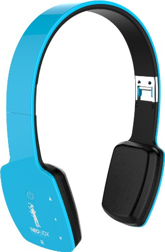 Neojdx Milan Wireless Bluetooth Headphone For Music Streaming And Hands-Free Calling With Built-In Mic/ 14 Hour Battery / Noise Isolation / Noise Cancellation And Hard Travel Case - Blue