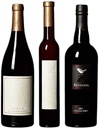 Renwood Delectable Port, Ice Wine, Syrah Mixed Pack, 2 X 750 Ml 1 X 375 Ml